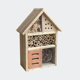 Insectenhotel 185 x 90 x 260 mm, natuurlijk nesthulpmiddel voor insecten.