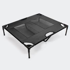 Hondenbed, zwart 92x77x20cm tot 25kg honden buitenbed ligbed relaxbed.