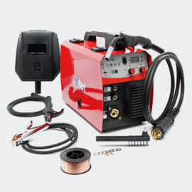 MIG - MAG lasapparaat met 40-180 ampère voor 0,6-1,0 mm vuldraad.