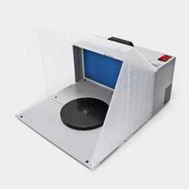 Airbrush accessoire; afzuigsysteem met draaiplateau 4m³/min filter.