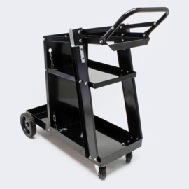 Mobiele laswagen; Laskar, verrijdbare werkplaatswagen, lasapparatuurwagen.