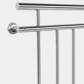 Frans Balkonleuning/Hekwerk; roestvast staal 90x128cm.