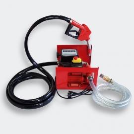 Zelfaanzuigende Diesel / Stookolie pomp, 230V/600W 40l/min voorzien van meter en tankpistool.