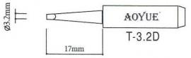 T-3.2D  AOYUE e.a. Soldeerpunt, D 3,2x0,5mm