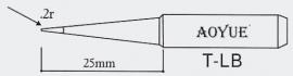 T-LB AOYUE e.a. Soldeerpunt, R 0,2mm
