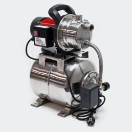 Pomp voor waterhuishouding 1200W 3800l/u met drukschakelaar en 19l drukvat.