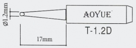 T-1.2D AOYUE e.a. Soldeerpunt D 1,2x0,7mm