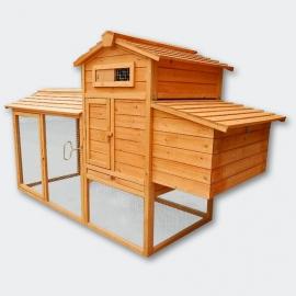 Groot luxe Knaagdier / Kippen- Konijnenhok met vrijloop