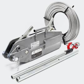 Kabeltrekker tot 3200 kg met 20m kabel Ø16mm voor trekken, spannen en hijsen.