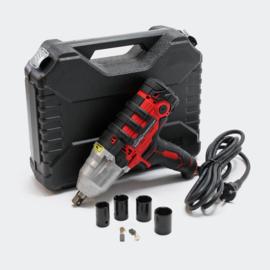 Elektrische slagmoersleutel met 450W incl. 4 slagmoersleutels.