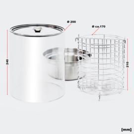 Hotdog verwarmer, rvs, 650 Watt; Hot dog Maker met verwarmingsstaven