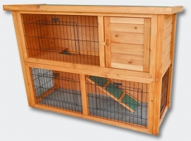 Knaagdier / Konijnenhok met ruime ren (2 etages)