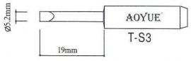 T-S3 AOYUE e.a. Soldeerpunt, D 5,2x1mm