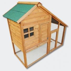 Luxe Knaagdier / Kippen- Konijnenhok met vrijloop