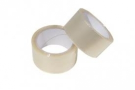PVC tape 50 mm x 66 meter, transparant