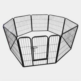 Vrijloop Puppy-box, Honden Vrijloopgebied, hekwerk met poort; 60 cm hoog.