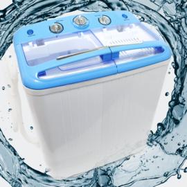 Mini wasmachine met dubbele trommel 5,2 kg