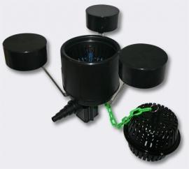 Drijvende skimmer met pomp en fontein, type W250