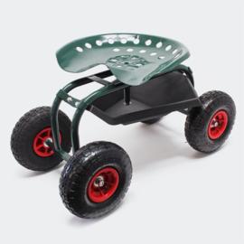 Rollende zitkar; werkplaatswagen met een draagvermogen tot 150 kg