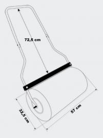 570 mm Tuinwals - Handwals met 45 liter vul-volume