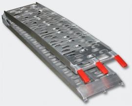 Inklapbare aluminium oprijplaat, laadplaat max. 340 kg.