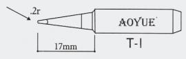 T-I AOYUE e.a. Soldeerpunt, R 0,2mm