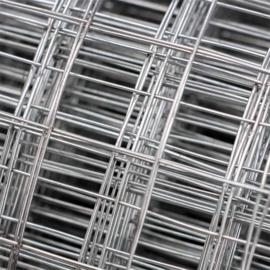 Gaas, volière draad, verzinkt 1mx10m met 12x12mm maaswijdte