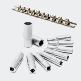 """Lange 1/4 """"inch dopsleutels set, 11-delige set; dopsleutels 5/32"""" -1/2 INCH."""