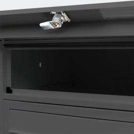 Meervoudige staande brievenbus ( 12 stuks ) in zwart.