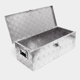Afsluitbare transportbox, aluminium dissel kist; 60 liter.