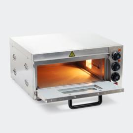 Pizzaoven met vuurvaste steen voor pizza uit de steenoven; 2000W.