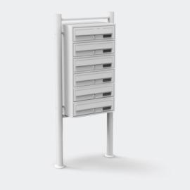 Meervoudige staande brievenbus ( hoog 6 stuks ) in wit.