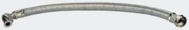 0,5m stalen gevlochten slang, 1 inch