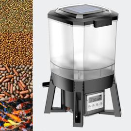 Automatische SOLAR visvoeder automaat CFF-206, programmeerbaar van 1 tot 6 voedingen per dag.