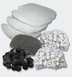 Set filtermateriaal voor 3 traps Aquariumfilter; SunSun HW-302/402B