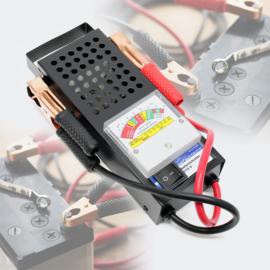 Accutester voor 6V en 12V accu's / batterijen met 2 klemmen.