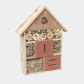 Insectenhotel 275 x 90 x 140 mm, natuurlijk nesthulpmiddel voor insecten.