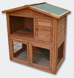 Luxe Knaagdier / Konijnenhok met ren (2 etages)