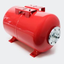 Expansievat, 24 liter, kleur rood.