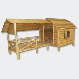 XXL Hondenhok met veranda / terras.