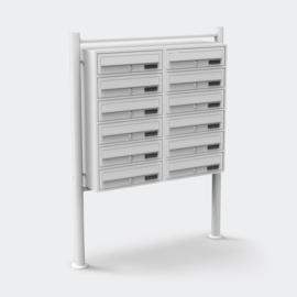 Meervoudige staande brievenbus ( 12stuks ) in wit.