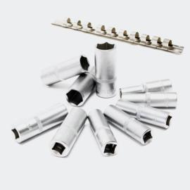 """Lange 1/2 """"inch dopsleutels set, 11-delige set; dopsleutels 3/8"""" -15/16 INCH."""