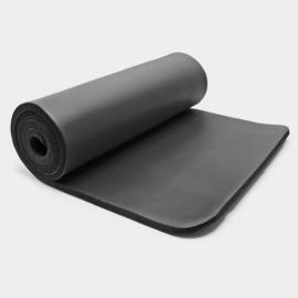 Yogamat zwart 180 x 60 x 1,5cm gymnastiekmat vloermat sportmat