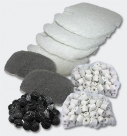 Set filtermateriaal voor 4 traps Aquariumfilter; SunSun HW-304/404B