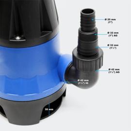 Vuilwaterpomp 7500 l/u, 400W; dompelpomp, tuinpomp, waterpomp, bronpomp.