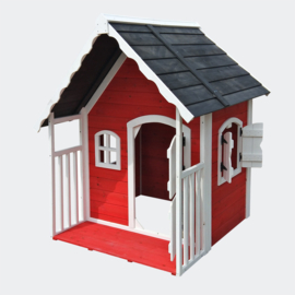 Houten KinderVilla; Speelhuis met Terras