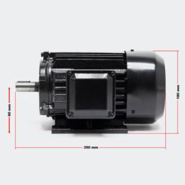 3-fase. Elektromotor 2-polig 400V 2,2kW 3 PK met aluminium wikkeling