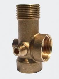 5-weg splitter voor drukvat met aansluiting voor manometer, 1 inch