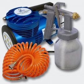 Profi-Set Spuitpistool HS-472 0.8mm & AS-06 Compressor, Set 1