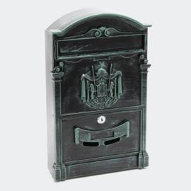 Brievenbus; Wandbrievenbus, Antiek Design, grijs